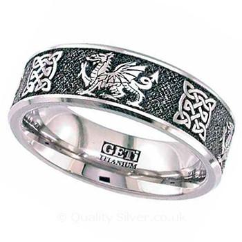 Welsh Celtic Wedding Rings
