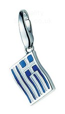 Giorgio Martello Silver Greece Flag Charm