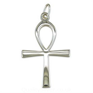 Sterling silver ankh cross pendant cme4108 sterling silver ankh cross pendant aloadofball Choice Image