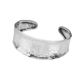 Tianguis Jackson Silver Hammered Cuff Torq Bangle