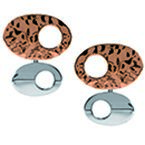 Tianguis Jackson Copper and Silver Contrasting Oval Stud Earrings