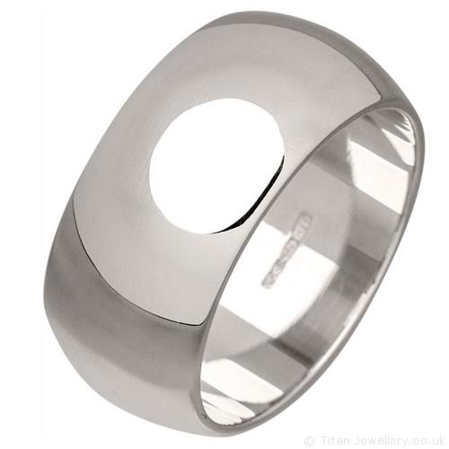 10mm Sterling Silver Wedding Ring