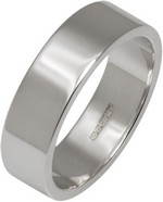 6mm Silver Flat Profile Wedding Ring