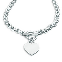 Silver Heart Tag Heavy Necklace