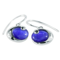 Something Blue Silver Earrings