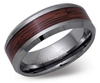 8mm Tungsten Carbide and Wood Ring