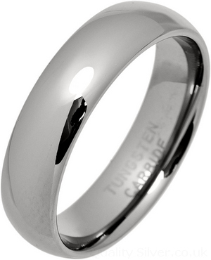 Tungsten Carbide 6mm Court Ring Turm6