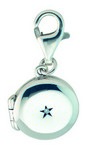 Kit Heath Silver Diamond Locket Charm